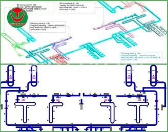 SCADA – Tủ điện Hệ thống Băng tải vận chuyển hành lý sân bay quốc tế