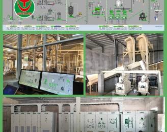 Dây chuyền sản xuất viên gỗ nén 6000TPY nhà máy Bình An Phú Dung Quất